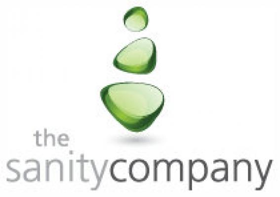 The Sanity Company Logo - Balenced Glass Pebbles