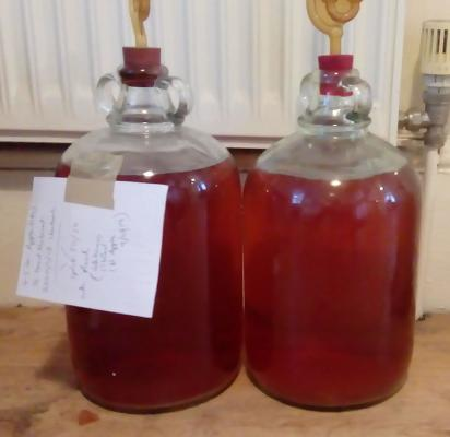 Two Demijohns of Apple Mead